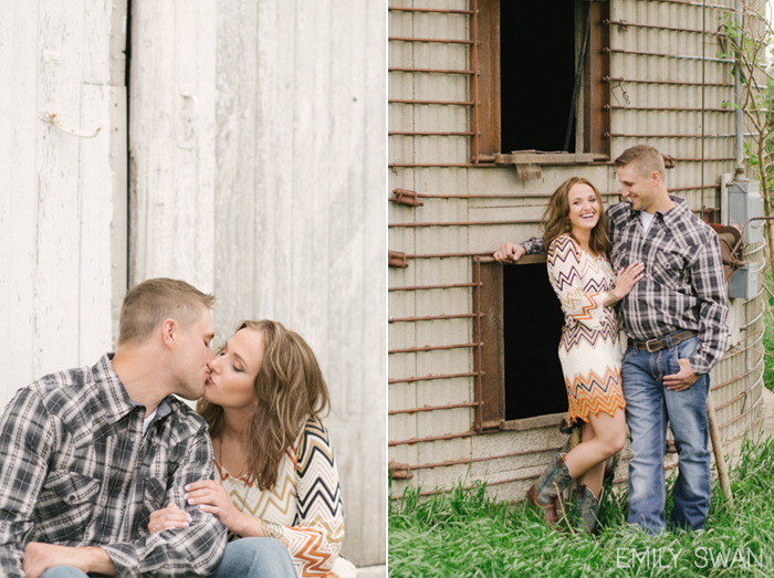 Katie Amp Curt Iowa Rustic Barn Engagement With Pets