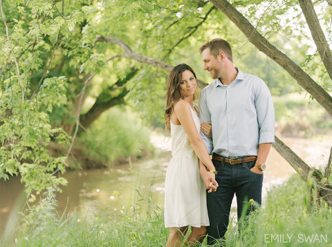 Romantic minimalist Midwest prairie engagement South Dakota couple in tall grass