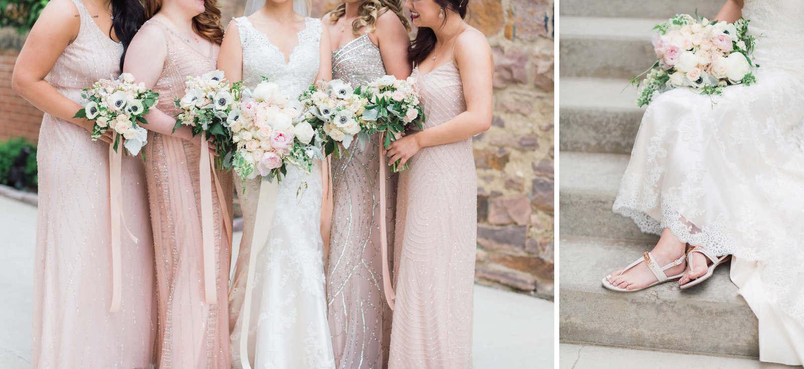 Modern pink wedding details downtown Sioux Falls photographer