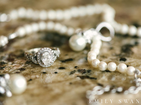 Wedding jewelry ring necklace