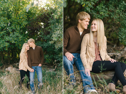 Natural Sioux Falls engagement pictures of couple in park