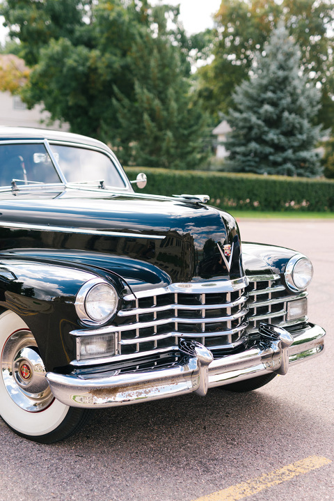 Classic Cadillac for downtown Sioux Falls wedding