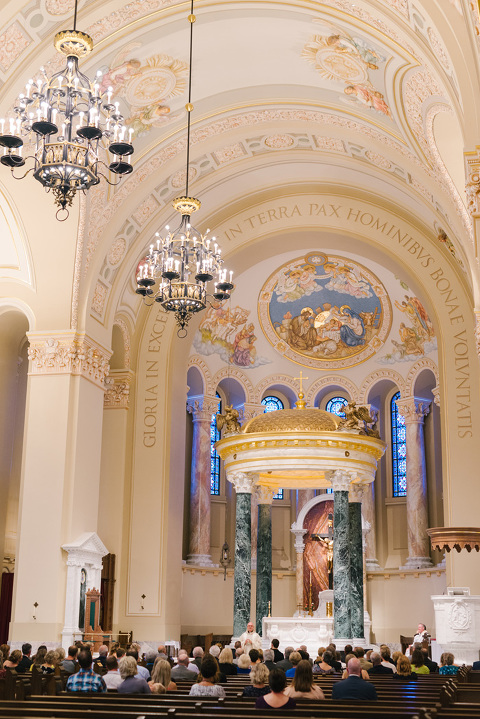Sioux Falls St. Joseph's Cathedral wedding photography