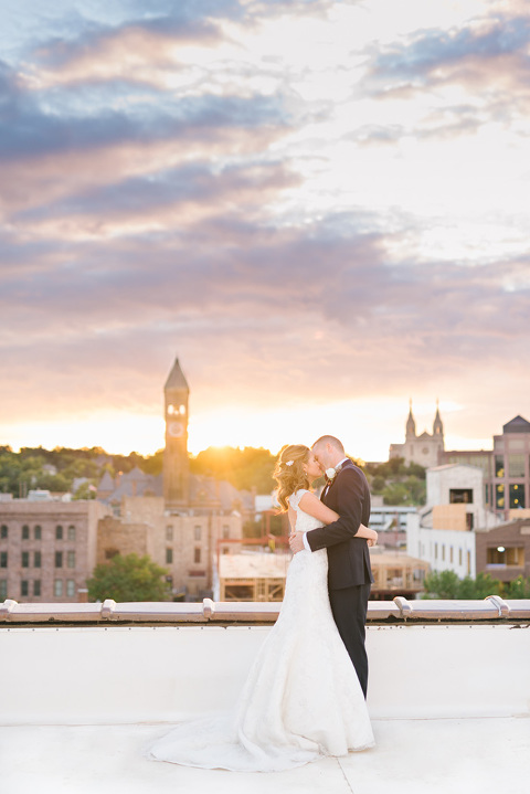 Beautiful Sunset Picture On Rooftop Sioux Falls Wedding Photography