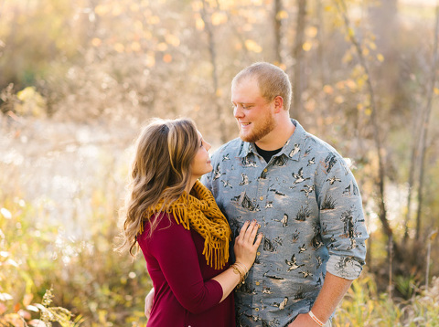 Beautiful fall engagement picture Milbank, SD photography