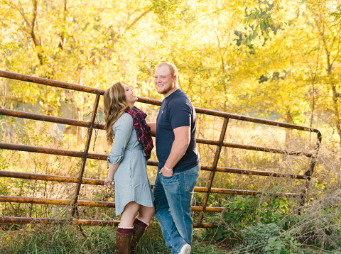 Candid engagement picture couple laughing Milbank South Dakota photography