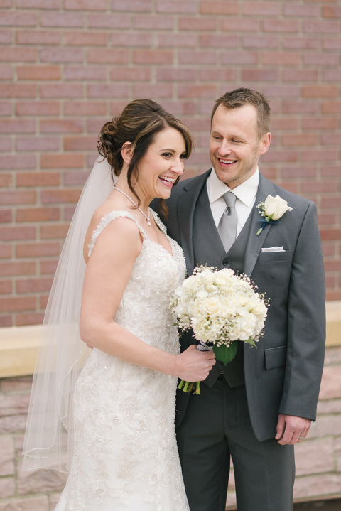 Candid Picture Of Bride And Groom Sioux Falls Wedding Photography
