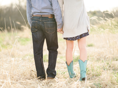 South Dakota engagement photography turquoise cowboy boots