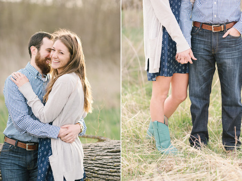 Cute engagement outfit ideas blue and turquoise cowboy boots