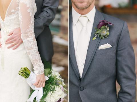 South Dakota winter wedding details Hadley Road flowers