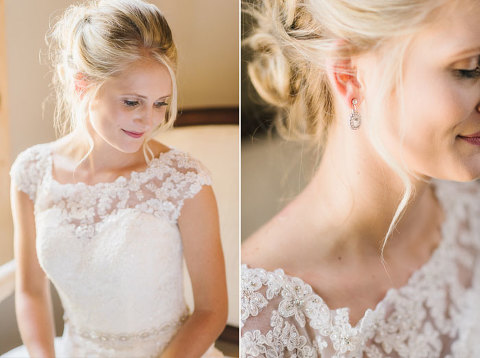 Sioux Falls bride lace cap sleeve wedding dress