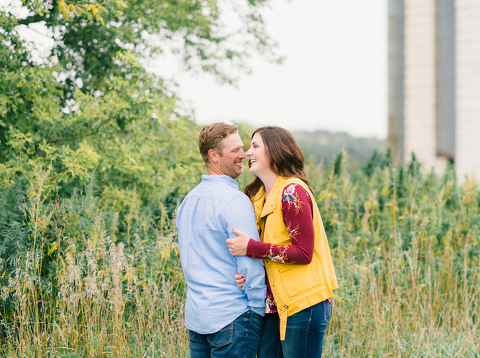 Relaxed and fun Minnesota engagement photography autumn outdoors