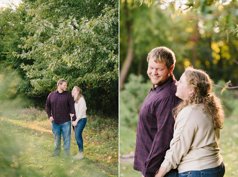 Natural and relaxed Sioux Falls engagement photography light and airy