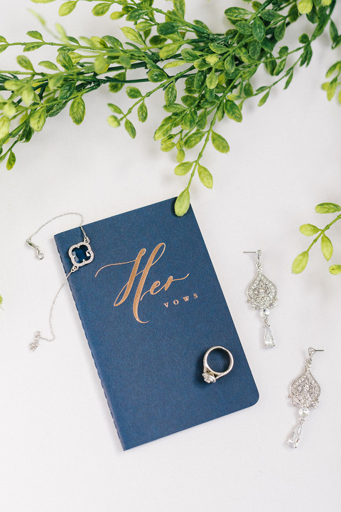 Her wedding vows book something blue bracelet silver bridal jewelry
