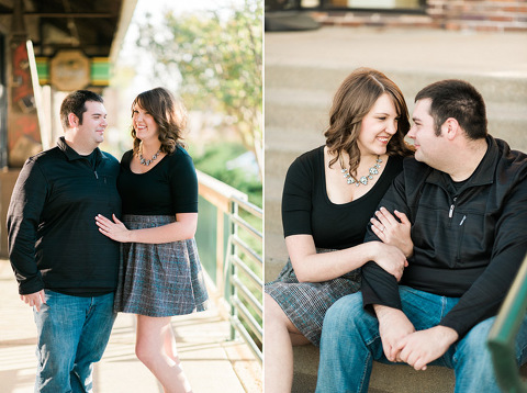 Downtown Sioux Falls 8th and Railroad sunset engagement photography