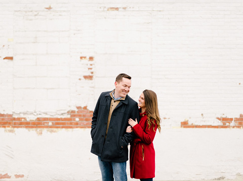 Sioux Falls couple laughing together unposed candid engagement photography
