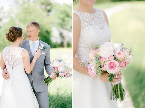 Colorful pastel colors JP Denmark South Dakota wedding photography bouquet details