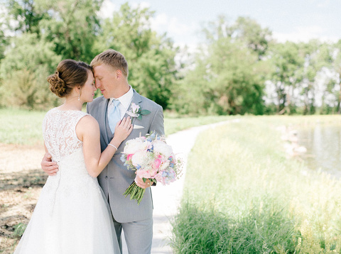 Bright and colorful bride and groom portrait JP Denmark South Dakota venue