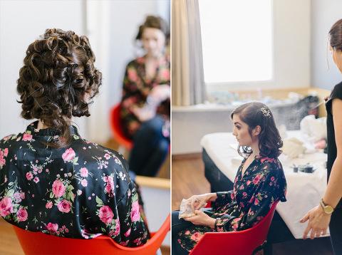 Bride getting ready Ibis Santo André hotel São Paulo, Brazil destination wedding photography