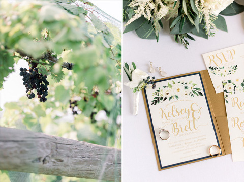 Outdoor vineyard ceremony winery wedding theme invitation inspiration Calico Skies venue