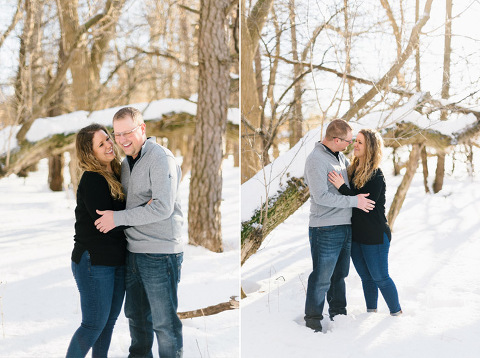 Sioux Falls winter engagement photographer location ideas with snow